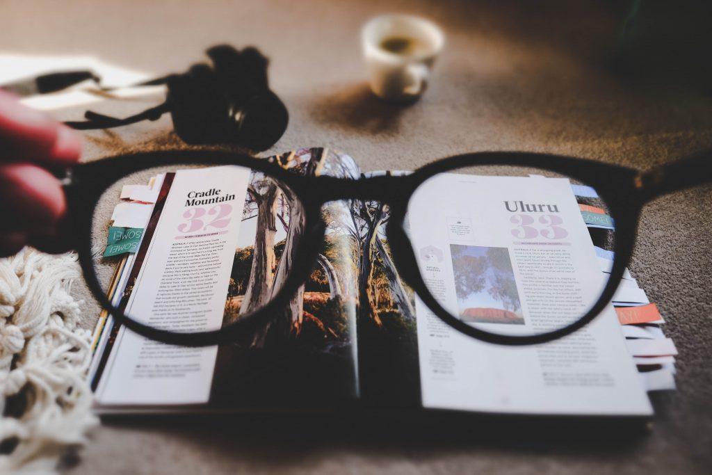 Advertorial in magazine