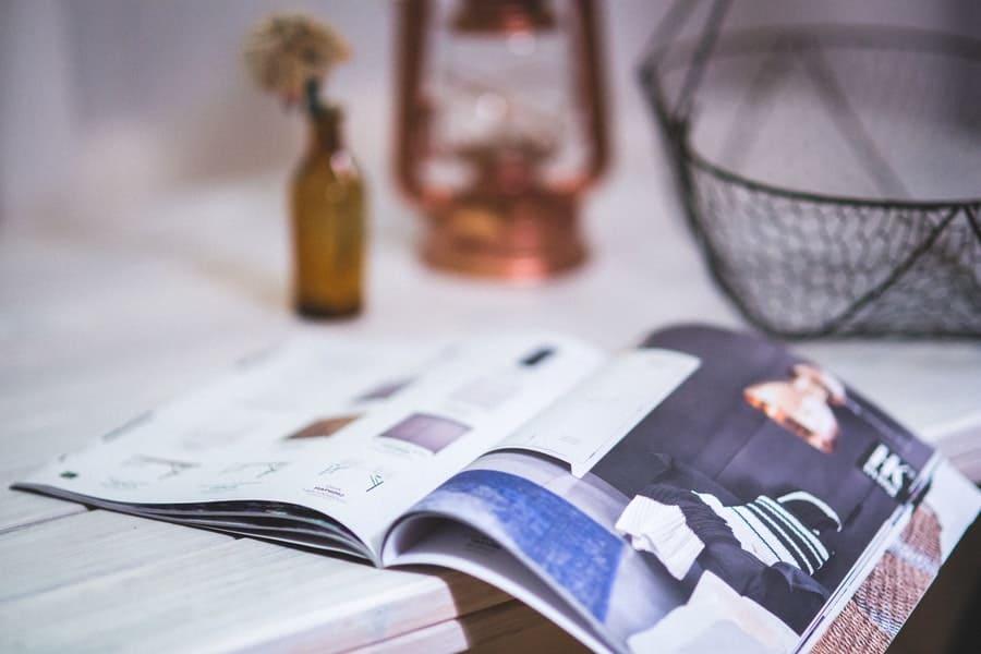 Advertorial in een magazine