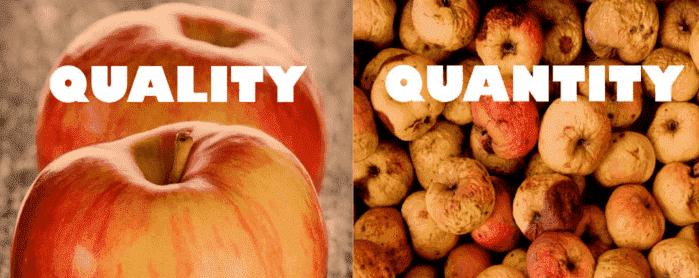 kwaliteit versus kwantiteit met appels