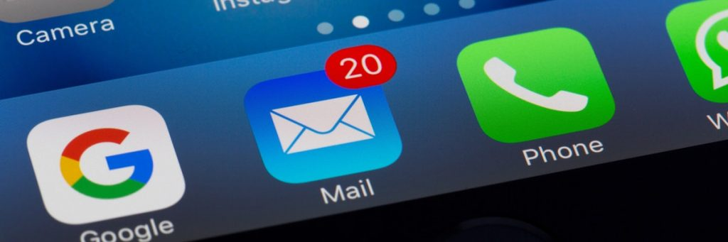 e-mailicoontje op iphone