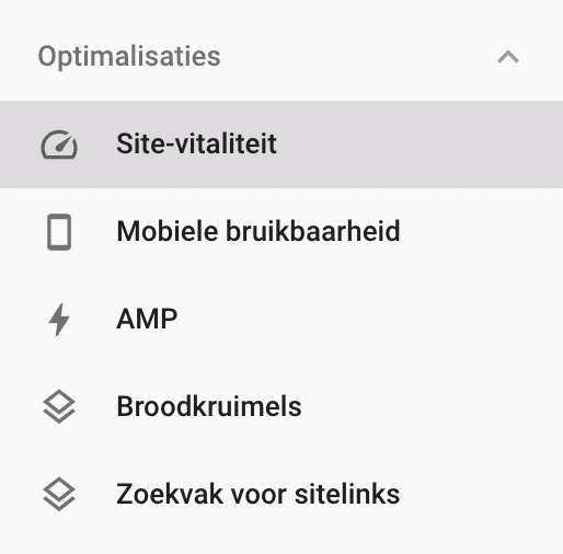 Search console optimalisaties