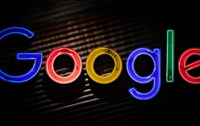 Google letters neon