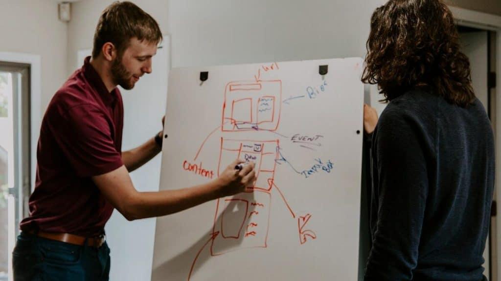 optimaliseren content op whiteboard